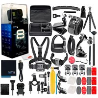 GoPro HERO8 Black Digital Action Camera + 50 Piece Accessory Kit - All You need Bundle