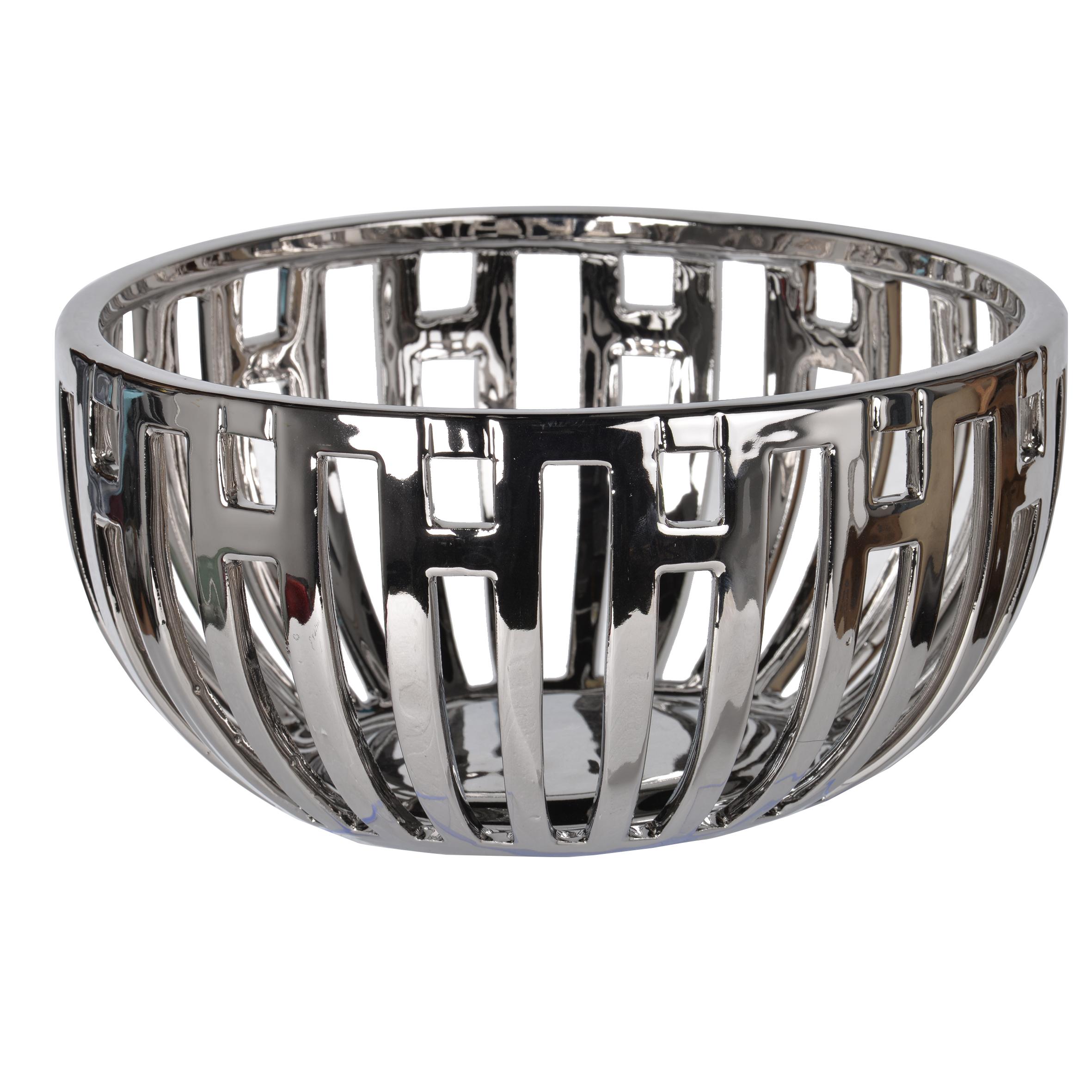 A&B Home Anthony Venetucci Metallic Centerpiece Bowl