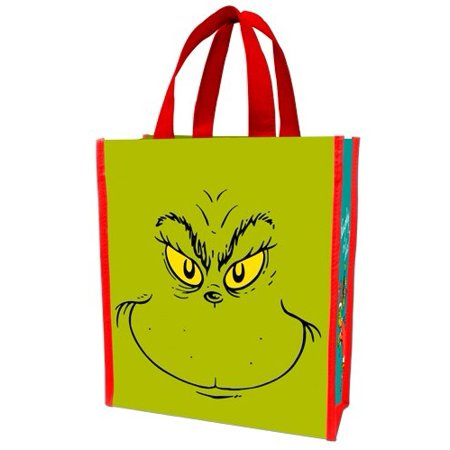 Vandor Dr. Seuss Recycled Naughty or Nice Grinch Tote
