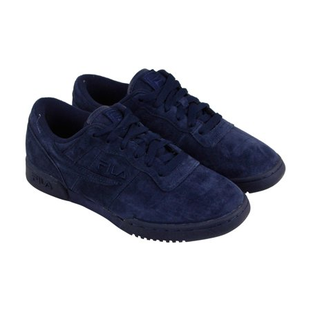 22621a2b2ca3 Fila - Fila Original Fitness Mens Blue Suede Lace Up Sneakers Shoes -  Walmart.com