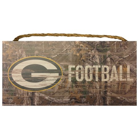 Wood Sign   6X12   Realtree Football   Garage Home   Nfl   Green Bay Packers