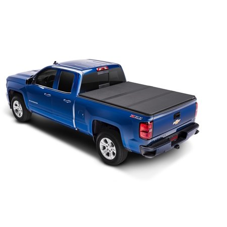 Extang 83350 Tonneau Cover Solid Fold 2.0 Hard Tri-Fold; Lockable Using Tailgate Handle Lock; Black Matte; Aluminum - image 1 of 2