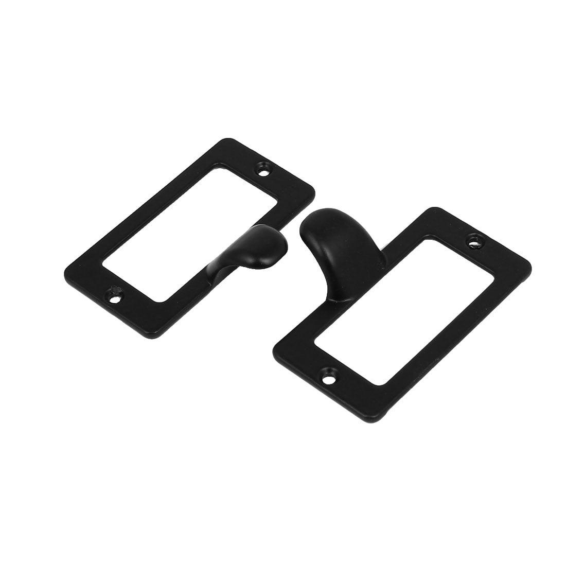 Office Cabinet Drawer Tag Frame Label Holder Pull Handles Black 59mm x 31mm 4PCS - image 3 of 4