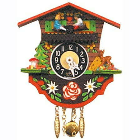 4 In. Black Forest Chalet Cuckoo (One Bird German Cuckoo Clock)