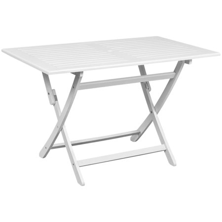 vidaXL Outdoor Dining Table White 47.2