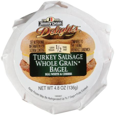 Jimmy Dean D-Lights Turkey Sausage w/ Egg Whites & Cheese Breakfast Sandwich, 4.8 oz., 12 per