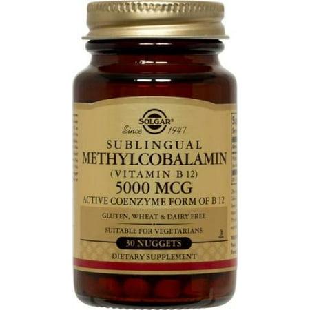 Methylcobalamin (Vitamin B12) 5000 mcg Solgar 30 Nugget