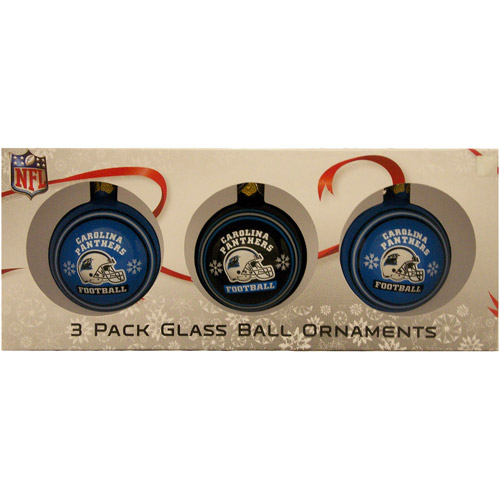 3 Pack Ball Ornament Set, Panthers