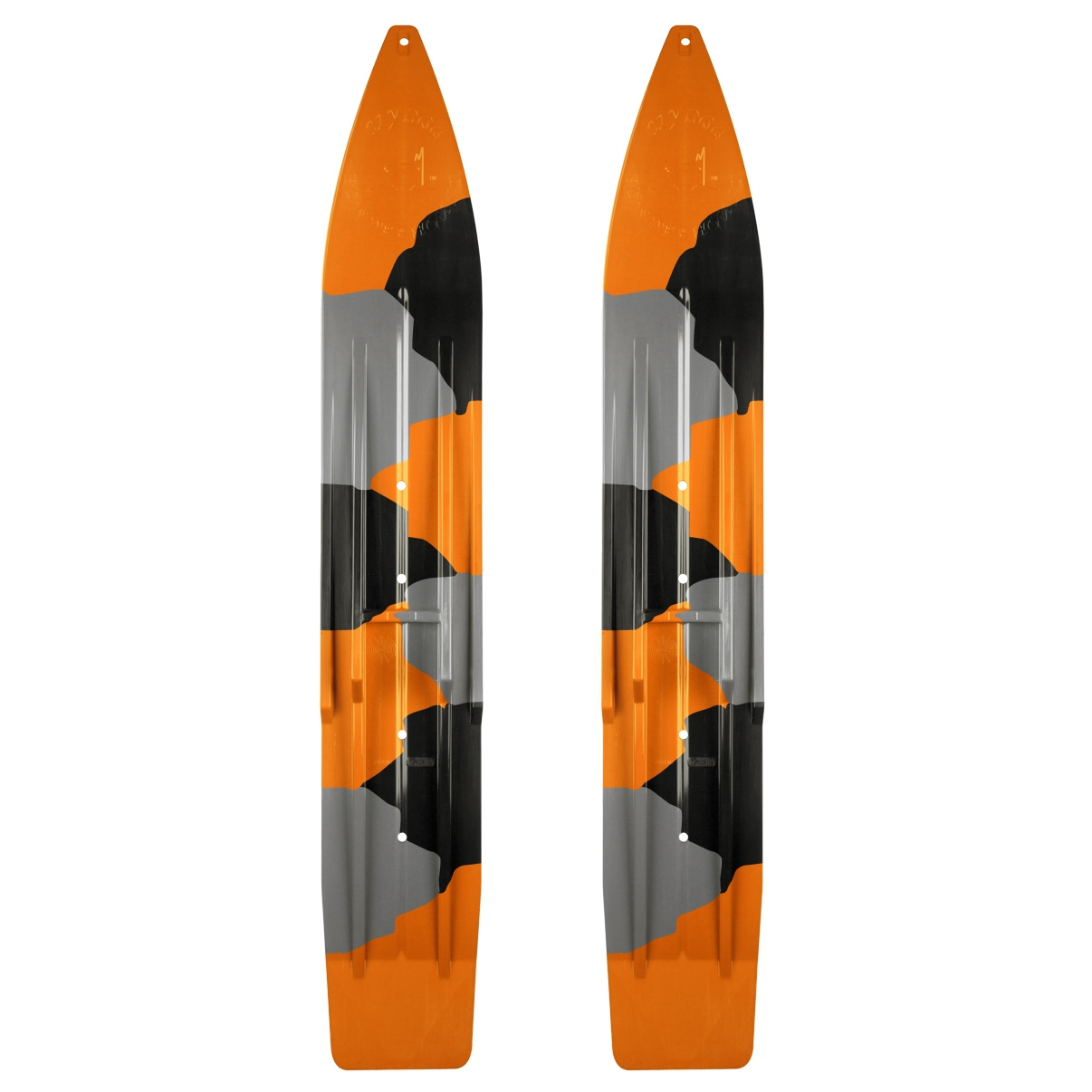 "SLYDOG SKIS 7"" Ski Powder Camo, Pair Camo, Orange, Black, Gray #310127 by SLYDOG SKIS"