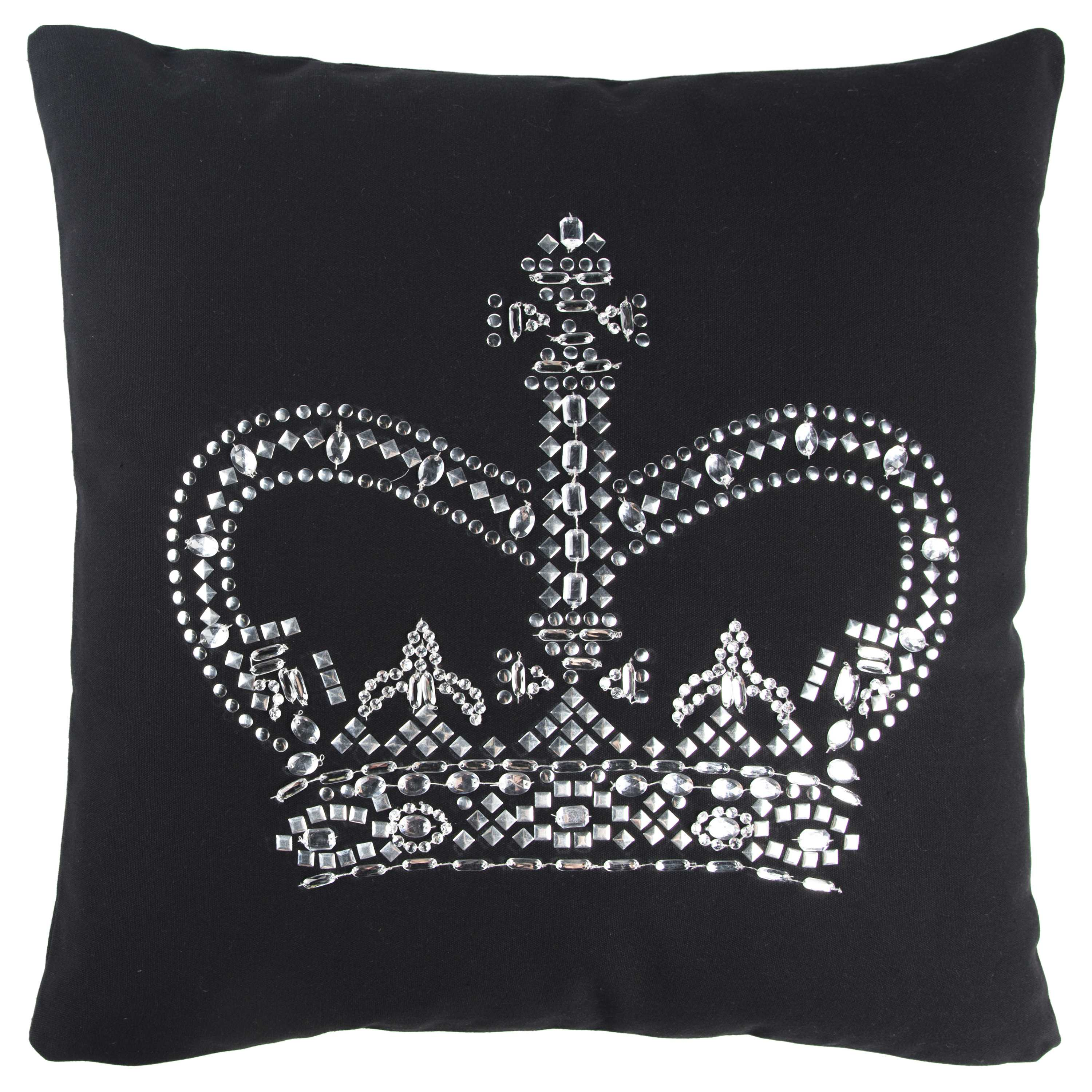 "Rizzy home T11067 20"" x 20"" black cotton canvas decorative filled pillow"