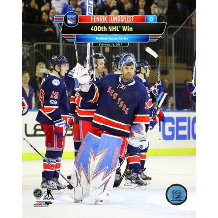 Henrik Lundqvist celebrates his 400th NHL win at Madison Square Garden on February 11 2017 with Overlay Photo Print](Halloween Photo Overlay)