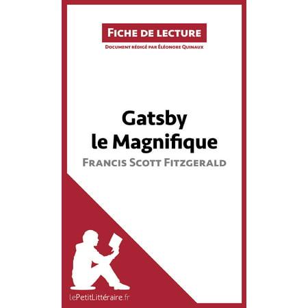 Gatsby le Magnifique de Francis Scott Fitzgerald (Fiche de lecture) -