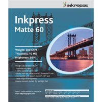 "Inkpress Matte 60 Single Sided Bright White Inkjet Paper, 10 mil., 200gsm., 8x10"", 50 Sheets"