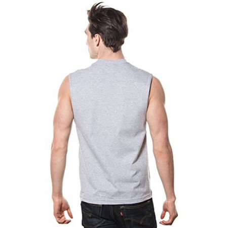 Mens Nypd Oxford Muscle Shirt with Navy Distressed Print - Muscle Shirts Mens