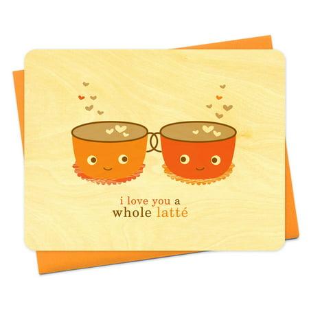 Night Owl Paper Goods Latte Love Wood Card