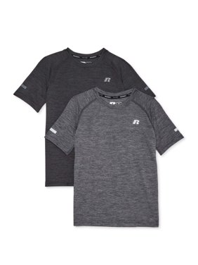 Russell Boys 4-18 Solid Short Sleeve Core Active Shirts,2-pack