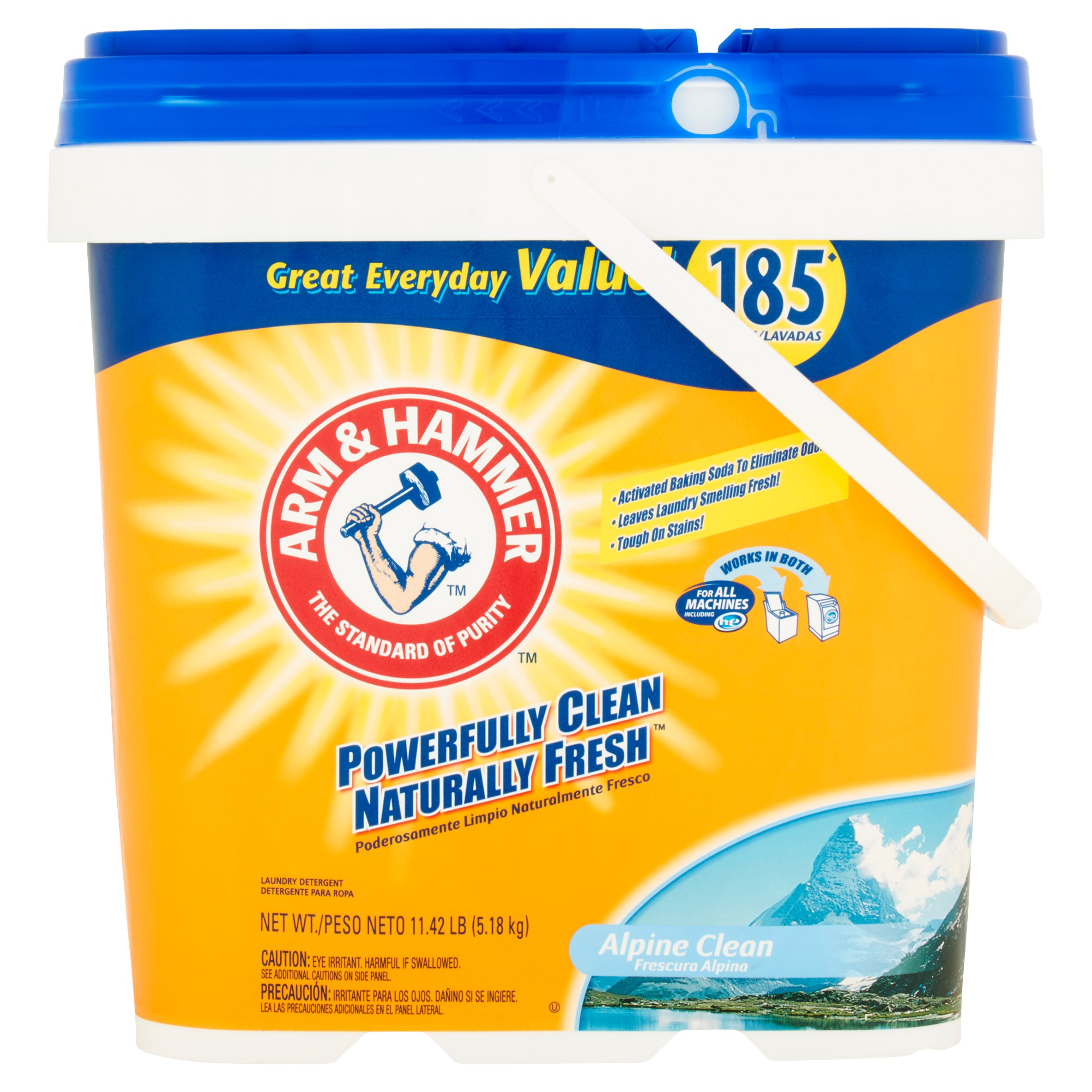Arm & Hammer™ Alpine Clean Powder Laundry Detergent 11.42 lb. Pail
