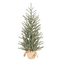 """Holiday Time Green Fir Tree with Burlap Base Christmas Decoration, 36"""""""