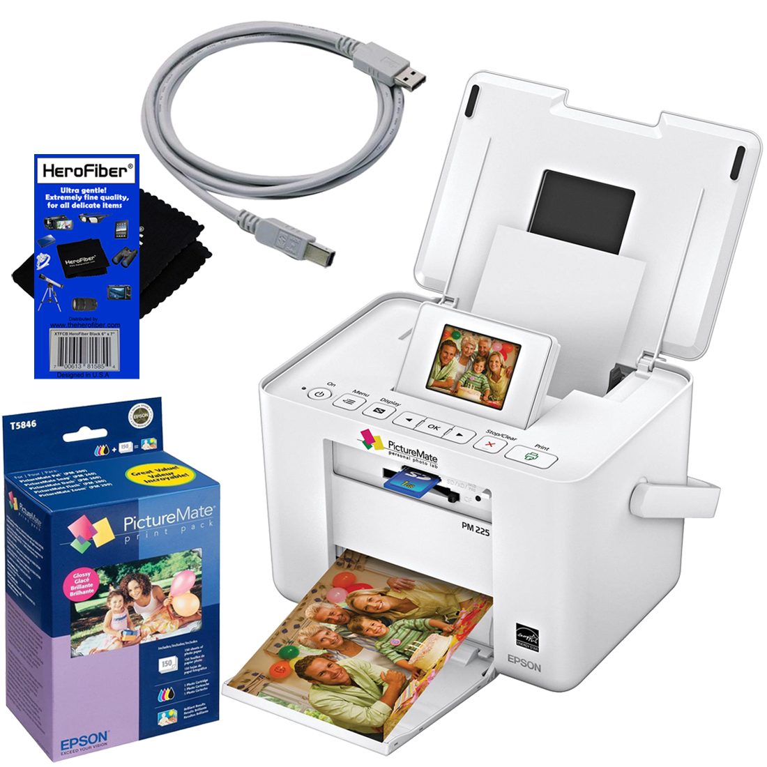 Epson PM225 PictureMate Charm Compact Photo Inkjet Printe...
