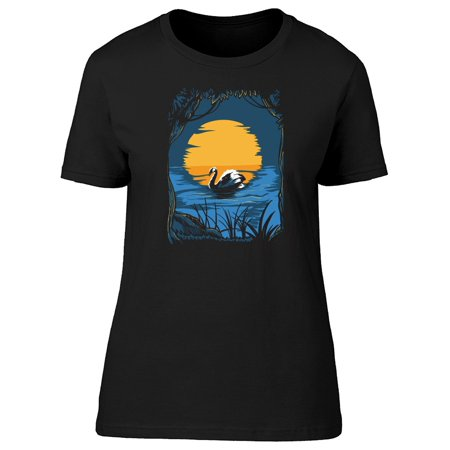 - Swan On The Sunset Tee Women's -Image by Shutterstock