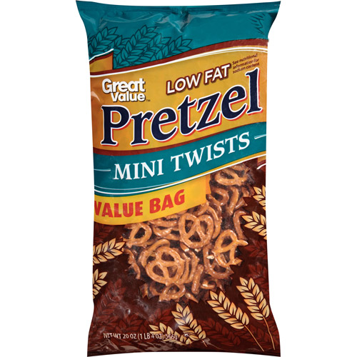 Great Value Low Fat Pretzel Tiny Twists, 20 oz