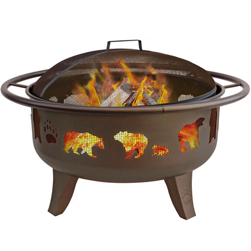 Landmann Patio Lights Firedance Fire Pit, Bear and Paw