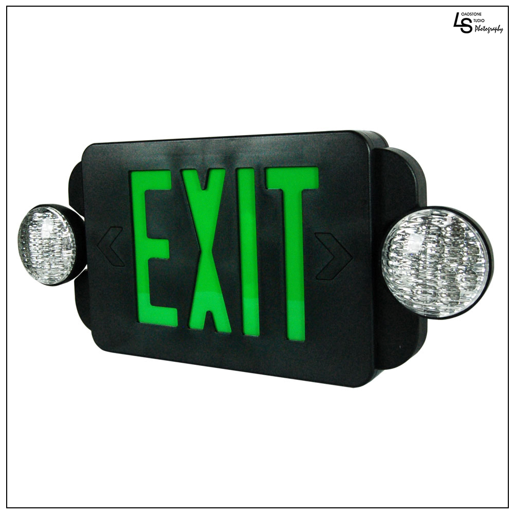 eTopLighting LED Exit Sign Emergency Light Compact Combo, WMLS1493