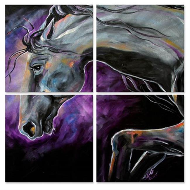 All My Walls 0125me00016m Silver Steed Night Dance Sqii Metal Wall Art 44 Multi Color Oversized Walmart Canada