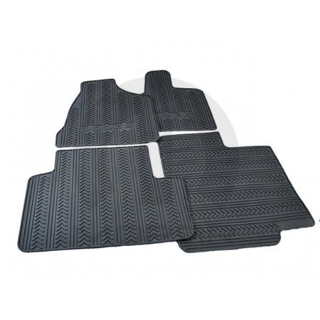 Mopar 82210730AC 1st and 2nd Row Slush Style Floor Mats Dodge Caravan Dark Slate Gray W/ Stow n Go
