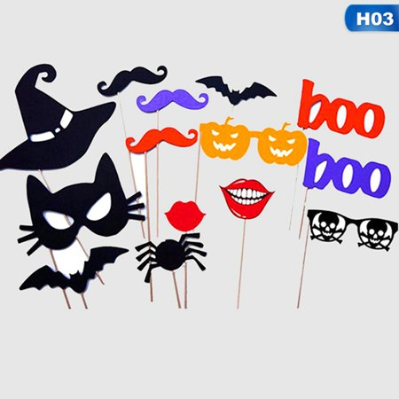 Games To Play For Halloween Party (KABOER Halloween Party Selfie Photo Booth Props Party Games Decorations Funny)
