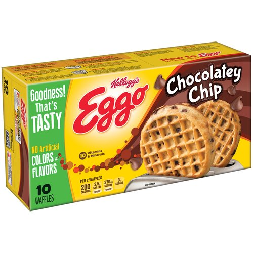 Kellogg's Eggo Chocolate Chip Waffles, 10 count, 12.3 oz