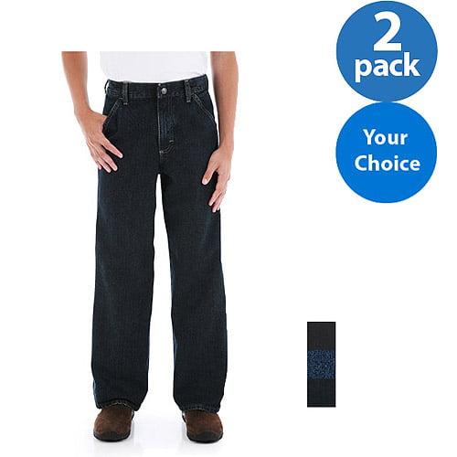 Wrangler Boys' Slim Carpenter Jeans, 2 Pack