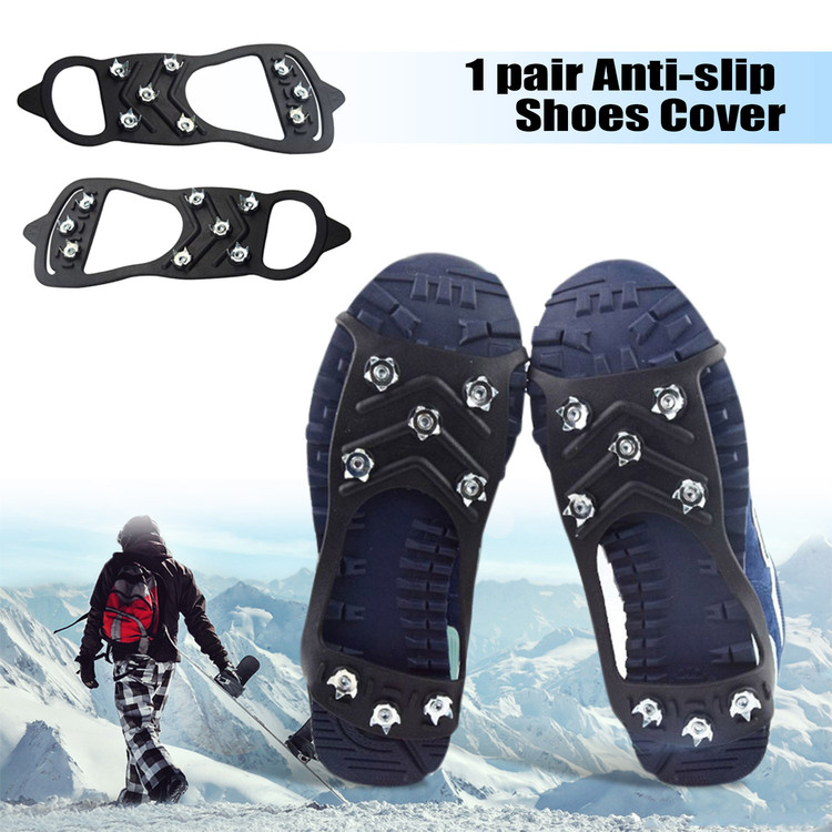 8-Stud Anti-slip Shoes Cover Snow Shoe Spikes Grips Outdoor Ice Crampon Tool Outdoor gadgets by