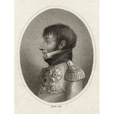 Louis Bonaparte Late King Of Holland 1778-1846 Younger Brother Of Napoleon 19Th Century Print Engraved For The LadyS Magazine Engraved By Heath Stretched Canvas - Ken Welsh  Design Pics (13 x