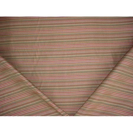 68H10 - Mint Green / Sage / Sienna / Moss Satiny Pin Stripe Upholstery Drapery Fabric - By the (Stripe Sage Green)