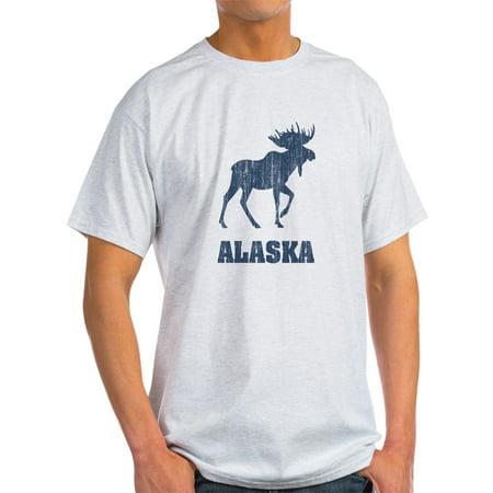 CafePress - Retro Alaska Moose Ash Grey T-Shirt - Light T-Shirt -