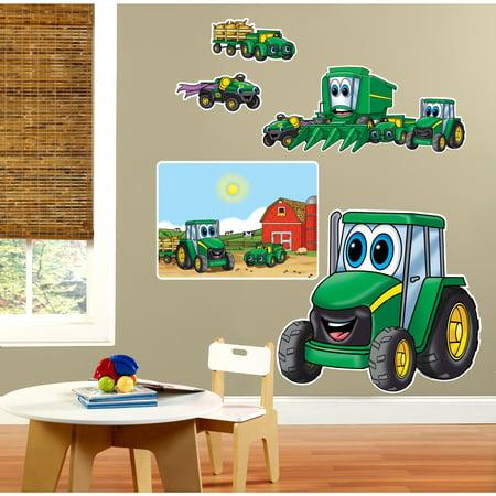 John Deere Johnny Tractor 1st Giant Wall Decals Walmart