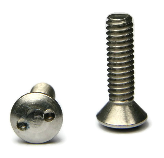 "Spanner Snake Eye Oval Head Machine Screw 18-8 Stainless Steel - #6-32 x 3/4"" - QTY 25"