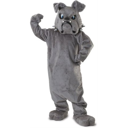 Bulldog Spike Economy Mascot Men's Adult Halloween Costume](Adult Mascot)