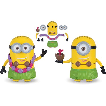 Despicable Me 3 Deluxe Action Figure Build-A-Minion Hula Dave/Hula Stuart