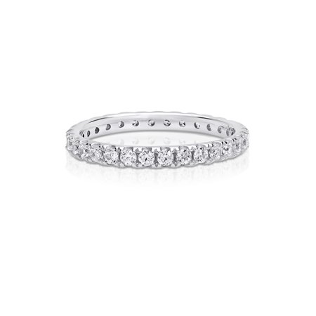 Cubic Zirconia Eternity Ring made with Zirconia from Swarovski (Confederate Ring)