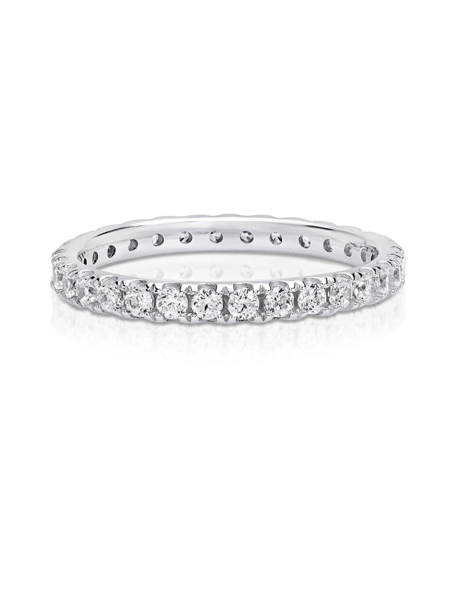 Cubic Zirconia Eternity Ring made with Zirconia from Swarovski