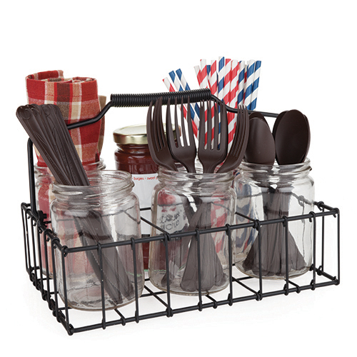 Country Home: Patio Silverware Caddy by Twine by True Brands