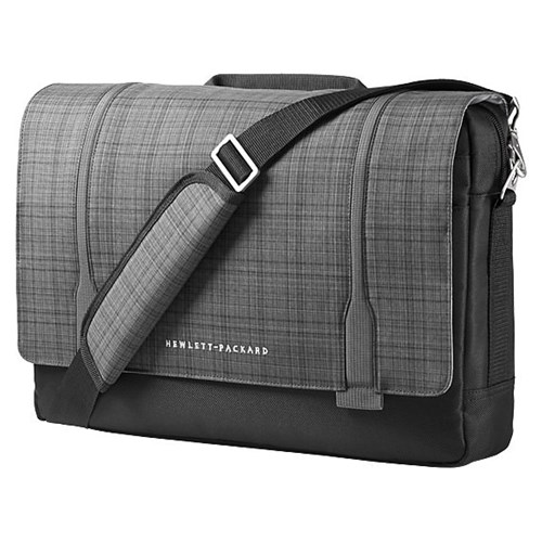 "HP Slim Ultrabook Messenger - Notebook carrying case - 15.6"" - gray plaid, black twill - for EliteBook 745 G2, 755 G2, 8"