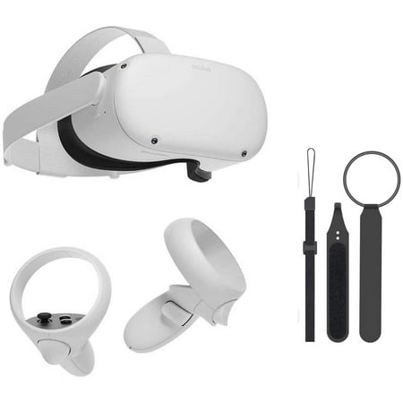 Oculus Quest 2 — Most Advanced All-in-One Virtual Reality 256GB Gaming Headset —3D Cinematic Sound— Next-Level Hardware — VR Headset, Two Touch Controllers, Glasses Spacer w/ Mazepoly Knuckle Strap