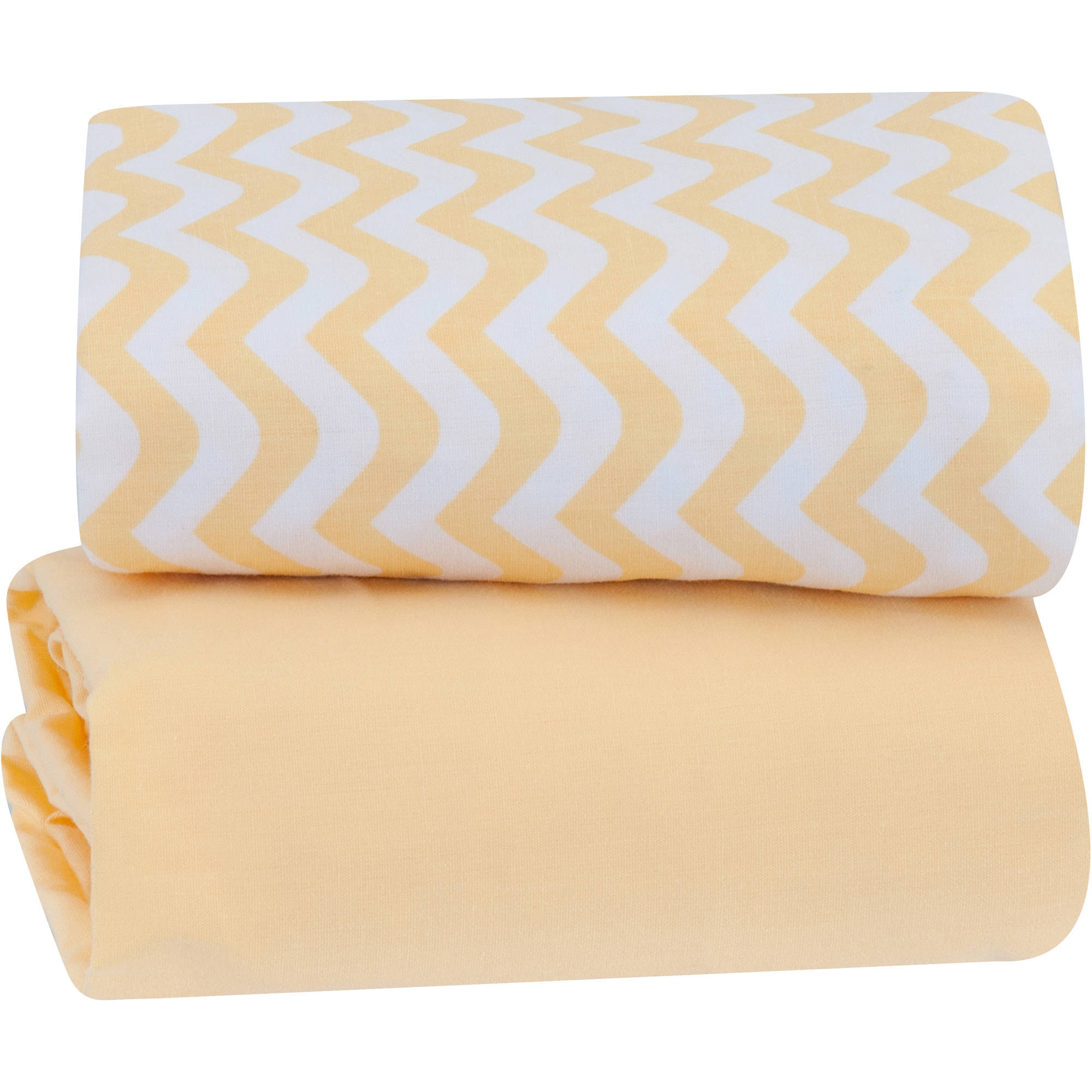 Tl Care Cotton Percale Fitted Mini Crib Sheet Grey Zigzag