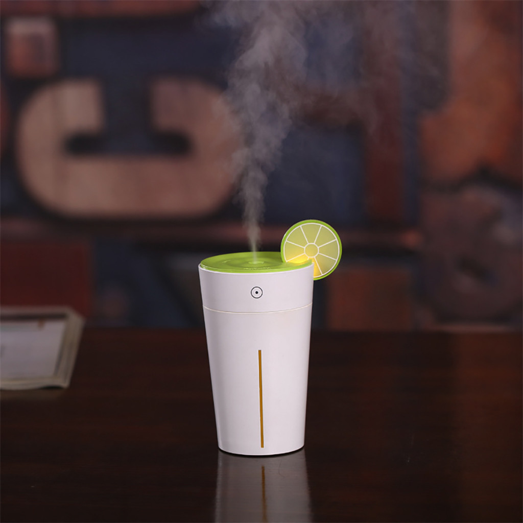 Portable Lemon Cup Shaped Cool Mist USB Air Humidifier Diffuser 200 ML Capacity