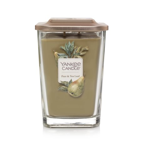 Yankee Candle Elevation Collection Large 2-Wick Square Pear & Tea Leaf Candle