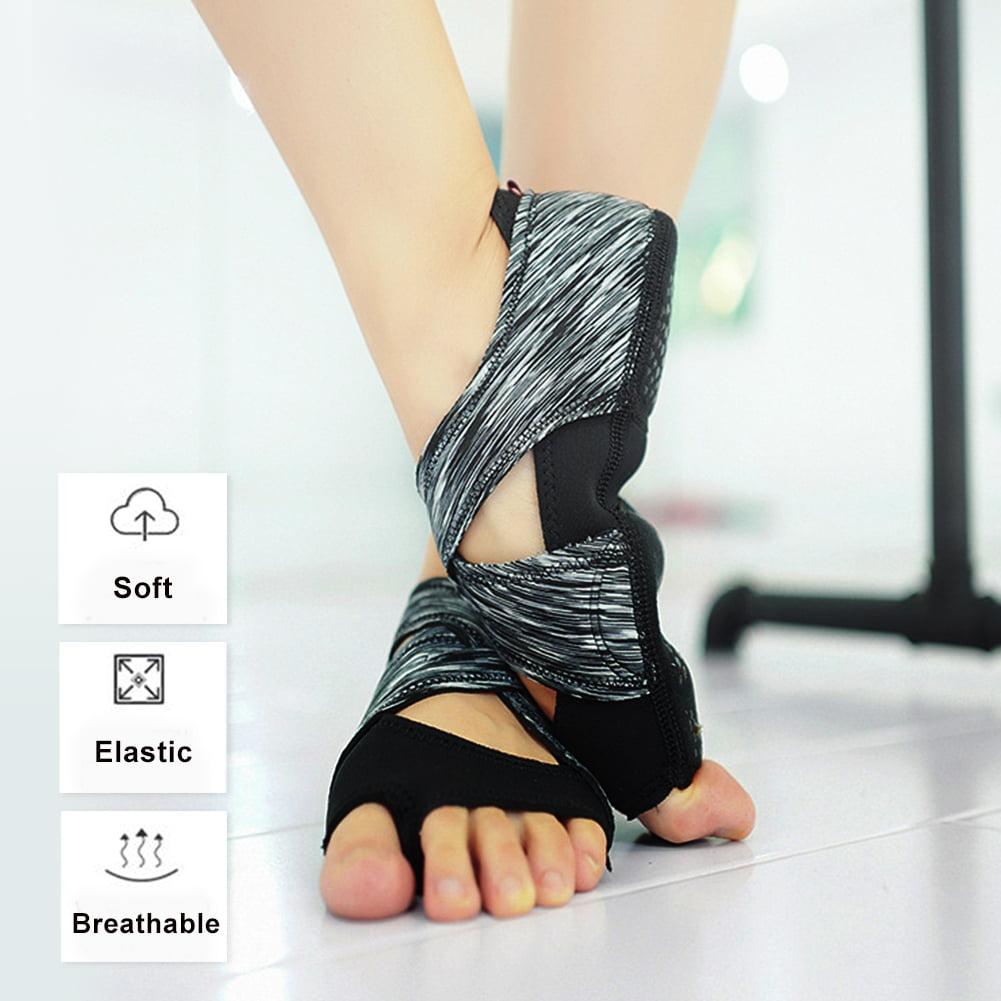 Fosa Women Yoga Non-slip Pilates Barre Soft Wrap Dance Training Shoes Grey, Soft Wrap Shoes, Yoga Non-slip Shoes