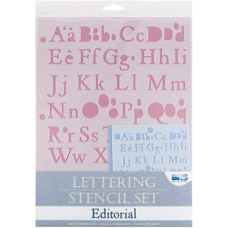 BHS105SET Lettering Stencil Set Editorial, Error-free tool. By Blue Hills Studio